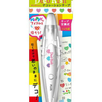 Polka Dot Hearts Deco Rush PLUS Japan Decoration Tape With Applicator Pen