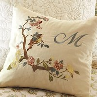 Arianne Embroidered Pillow Cover | Pottery Barn