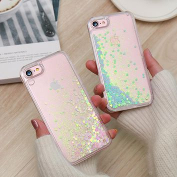 KISSCASE Cute Shiny Quicksand Sequin Case For iPhone 5 5s SE 6 6s 7 Plus Bling Sequin Cover For iPhone 7 6 6s Plus 5 SE Capa