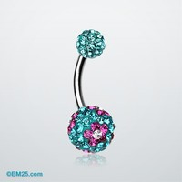 Flower Delight Tiffany Inspired Sparkle Ferido Belly Ring