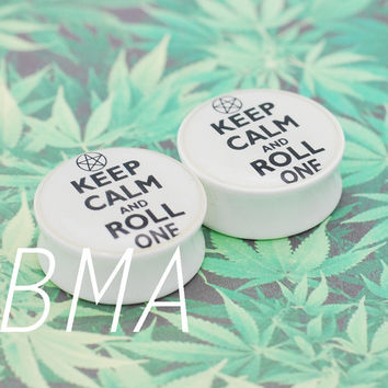 Keep Calm and Roll One BMA Modified Plugs 2g (6mm) Pair