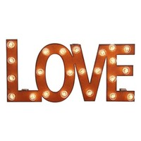 Universal Ironworks 'Marquee Lights - Love' Recycled Metal Sign