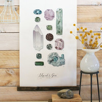 Vintage Inspired Science Posters - MINERALS & GEMS VOL. 2