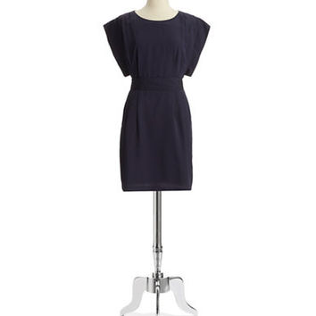 Eliza J Capped Sleeve Fit and Flare Dress