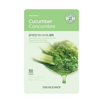 THE FACE SHOP REAL NATURE MASK SHEET, CUCUMBER