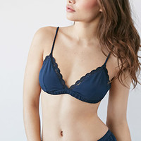 Scalloped Lace-Trim Bralette