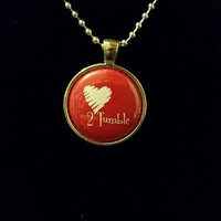"Love to Tumble 1"" Pendant Necklace"