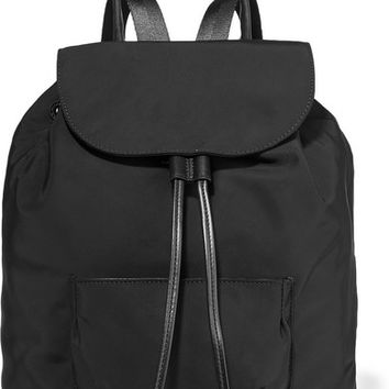 Elizabeth and James - Langley leather-trimmed shell backpack