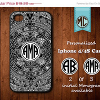 20% SALE Personalized iPhone 4 Case - Plastic iPhone case - Rubber iPhone case - Monogram iPhone case - iPhone 4s case - MC111