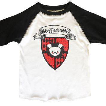 Gryffindorable BOYS OR GIRLS BASEBALL 3/4 SLEEVE RAGLAN - VERY SOFT TRENDY SHIRT B367