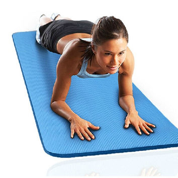 (183cm*60*1cm)Thick Mat Pad for Leisure Picnic Exercise Fitness Yoga = 1933172484