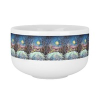 Silent Night Winter Full Moon in Sweden Soup Mug