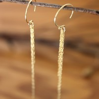 Supermarket: Tassel Metal Chain Fringe Long Waterfall Barely There Gold Earrings - Delicate Simple Modern Minimalist Jewelry - WATERFALL by 5050 STUDIO from 5050 Studio