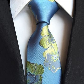 Mantieqingway Brand Men Ties for Wedding Paisley Flower Neck Ties Polyester Floral Necktie Gravata for Men Classic Ties for Men