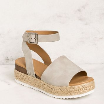 Weekend Grey Platform Sandals
