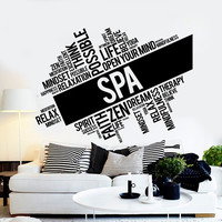 Vinyl Wall Decal Spa Salon Massage Relax Zen Therapy Stickers Unique Gift (ig4443)