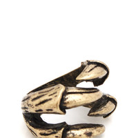 claw-ring GOLD SILVER - GoJane.com