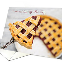 Delicious National Cherry Pie Day with Recipe card