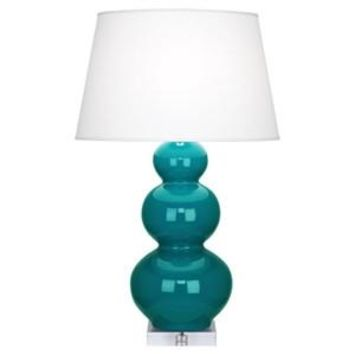Robert Abbey | Peacock Triple Gourd Table Lamp with Lucite Base