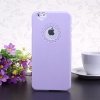 "Wkae@ iPhone 6 Plus 5.5"" Inch Protective Cover Case - Flower Window and Heart Pattern Hard PU Back Case for iPhone 6 Plus (Lavender)(WILL NOT Fit iPhone 6 4.7 Inch, iPhone 5 5S 5C 4 4S)"