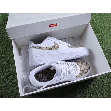 One-nice™ Gucci x NIKE Air Force Women Men Running Sport Casual Shoes Sneakers