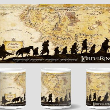 the lord of the rings mugs Tea Cup cold hot heat reveal coffee mug transforming cup heat changing color cups