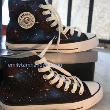 DCCK1IN galaxy converse shoes newest galaxy design hand painted galaxy kicks