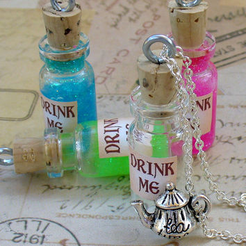 DRINK ME Necklace by UmbrellaLaboratory on Etsy