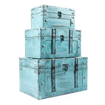 Antique Turquoise Storage Trunk Box Set | Shop Hobby Lobby