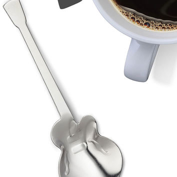 Rockstirs Lets Pour Guitar Shaped Tea Spoon