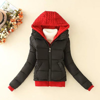 Hoodie Long-Sleeve Zippered Parka Jacket