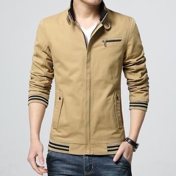 Long sleeve Pure color coat /male high-grade Pure cotton comfortable slim fit