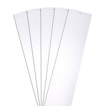 DALIX Rustic Vertical Blinds Window Slats Replacement Set White 5 Pack