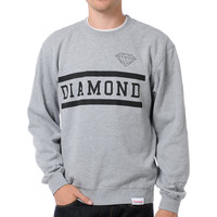 Diamond Supply Collegiate Heather Grey Crew Neck Sweatshirt