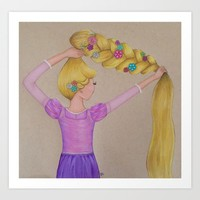 Rapunzel the Lost Princess Art Print by Sierra Christy Art
