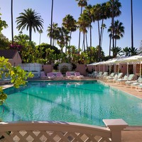 The Beverly Hills Hotel - Pool Side View - Beverly Hills, California