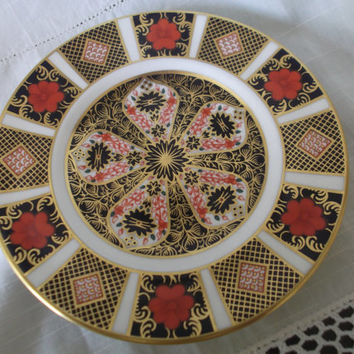 Royal Crown Derby 1128 Imari Plate dated 1978. Side Plate Tableware 1st Quality Excellent condition Gift idea