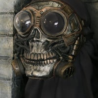 Steampunk Froggle Full Face Skull Gas mask