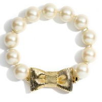Women's kate spade new york 'all wrapped up' glass pearl bracelet