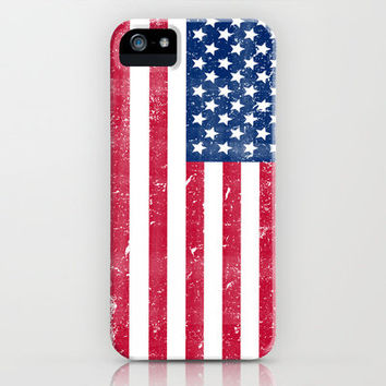 Vintage USA Flag iPhone Case by RexLambo | Society6