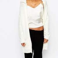Micha Lounge | Micha Lounge Cosy Boucle Hooded Cardigan at ASOS