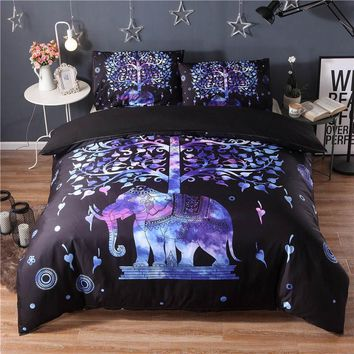 Bedding Outlet Ethnic style Bedding Sets Soft Print Bedclothes Home Duvet Cover Set with Pillowcases