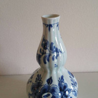 Vintage Delft bud vase /blue and white shaped vase/ original Delft made in Holland/ ships worldwide from UK