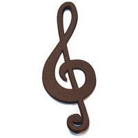 treble clef die cuts - music scrapbooking supplies by partyparts - set of 10