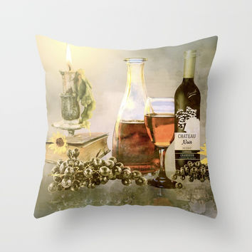 Dreams of Tuscany Throw Pillow by Theresa Campbell D'August Art