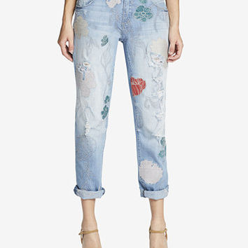 Jessica Simpson Embroidered Best Friend Cuffed Jeans | macys.com