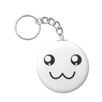 Cute Smiley Happy Kawaii Emoticon Keychain