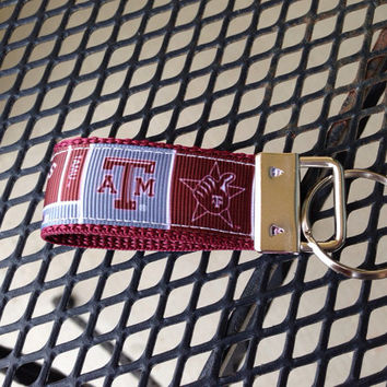 Texas A&M University Inspired Keychain Fob