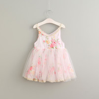 """The """"Miley"""" Pink Floral Girls Dress"""