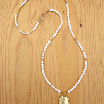 Golden Girl Arrowhead Necklace